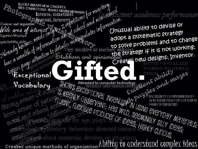 Therapy for intellectually gifted people
